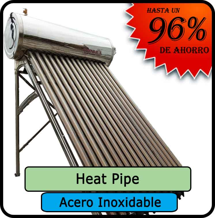 termotanques HEATPIPE acero inoxidable